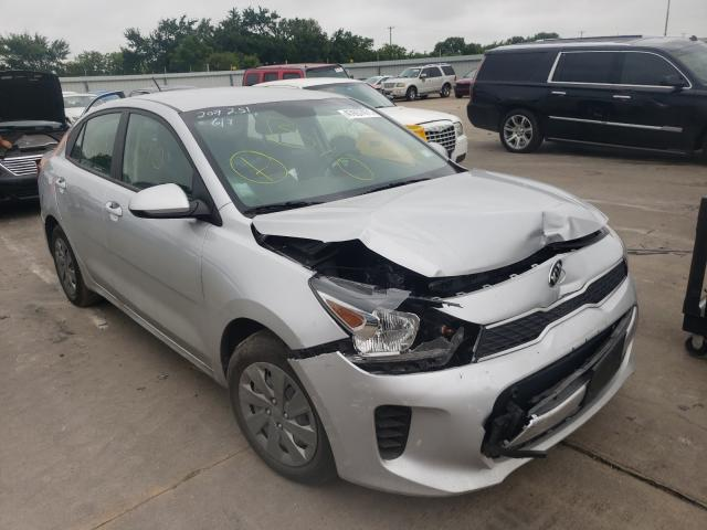 Salvage cars for sale from Copart Wilmer, TX: 2020 KIA Rio LX