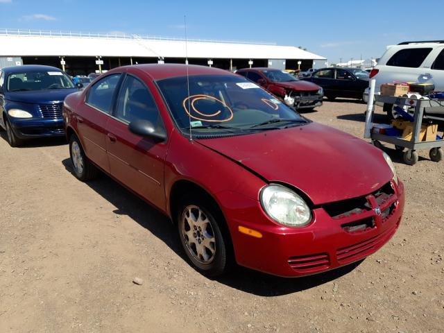Salvage cars for sale from Copart Phoenix, AZ: 2005 Dodge Neon SXT