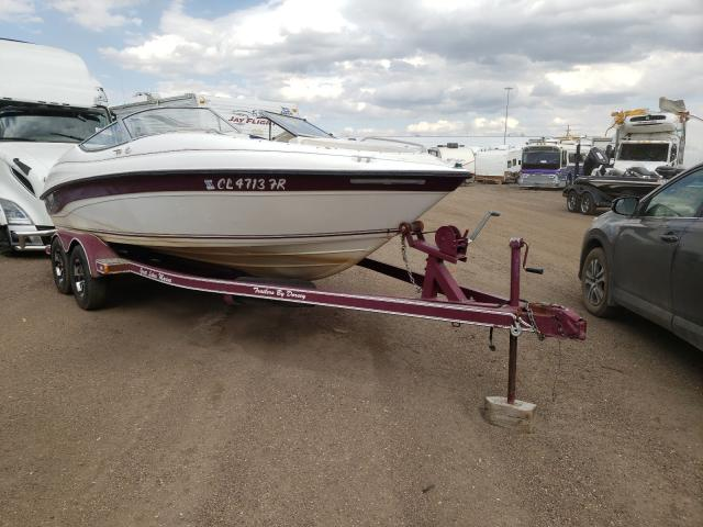 Salvage boats for sale at Brighton, CO auction: 1999 Ebbtide Boat With Trailer