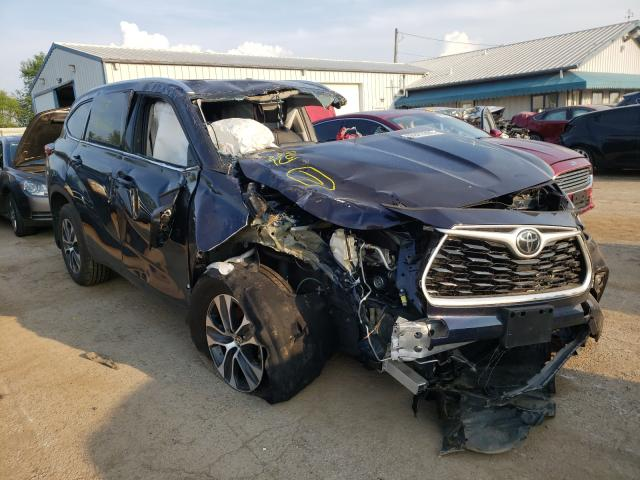 Salvage cars for sale from Copart Pekin, IL: 2021 Toyota Highlander