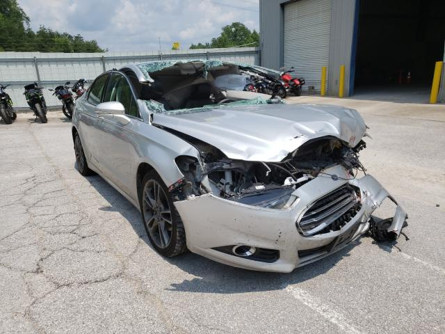 Salvage cars for sale at Hurricane, WV auction: 2015 Ford Fusion Titanium