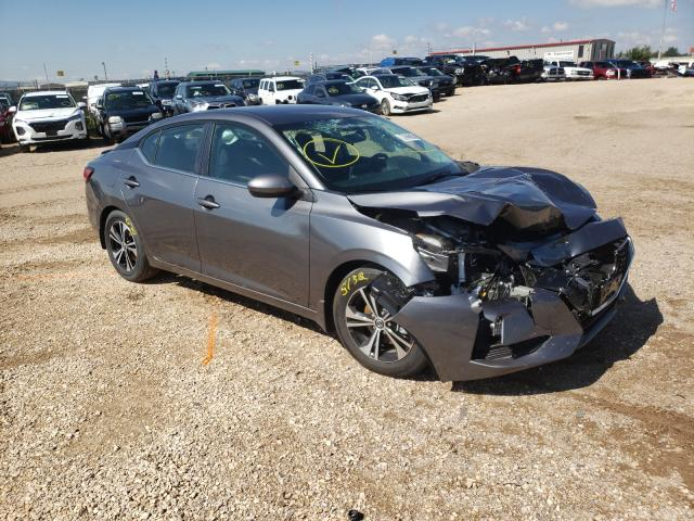 Salvage cars for sale from Copart Casper, WY: 2021 Nissan Sentra SV