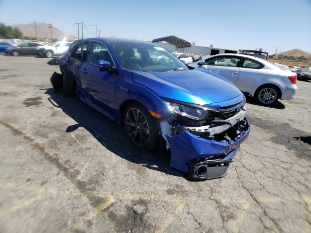 Salvage cars for sale from Copart Colton, CA: 2021 Honda Civic Sport