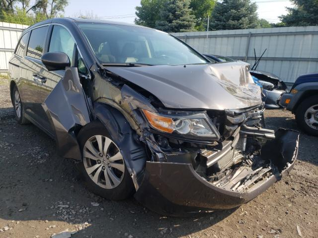 Salvage cars for sale from Copart Albany, NY: 2015 Honda Odyssey EX