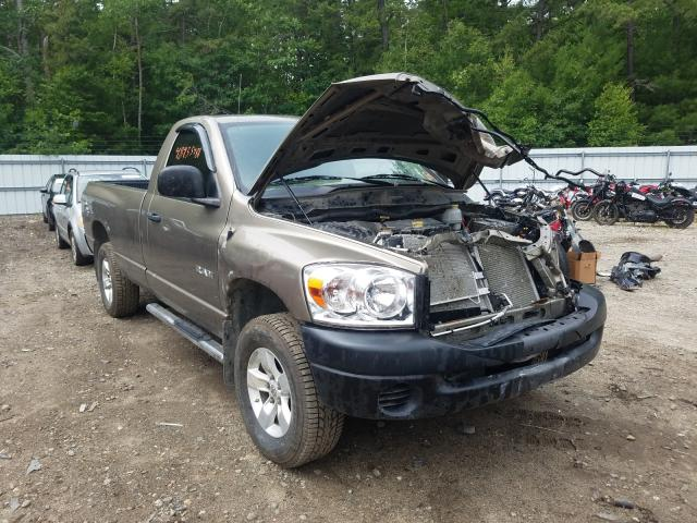 Salvage cars for sale from Copart Lyman, ME: 2008 Dodge RAM 1500 S