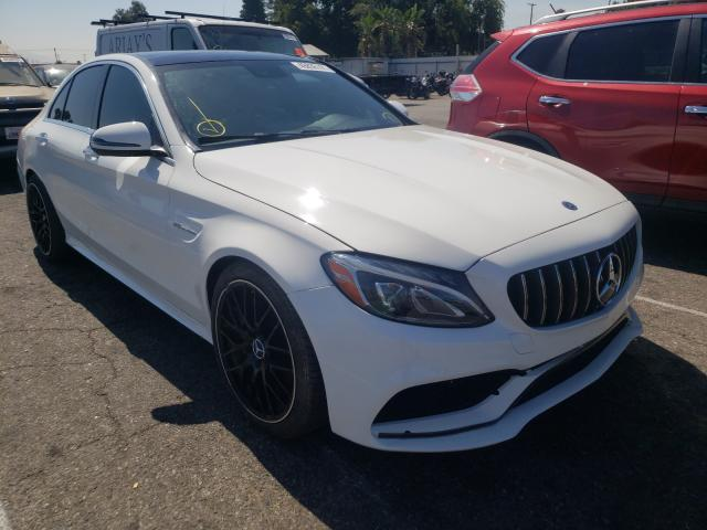 Salvage cars for sale from Copart Van Nuys, CA: 2020 Mercedes-Benz C 63 AMG