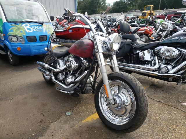 Salvage motorcycles for sale at Eight Mile, AL auction: 2013 Harley-Davidson Flstf Fatb
