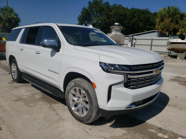Salvage cars for sale from Copart Punta Gorda, FL: 2021 Chevrolet Suburban C