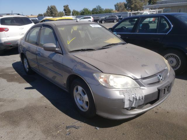 Salvage cars for sale from Copart Martinez, CA: 2005 Honda Civic Hybrid