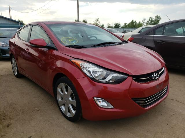 Salvage cars for sale from Copart Pekin, IL: 2013 Hyundai Elantra GL
