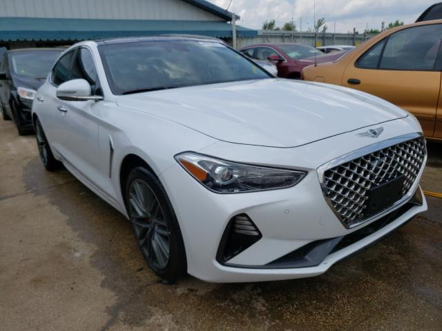 Salvage cars for sale from Copart Pekin, IL: 2019 Genesis G70 Elite