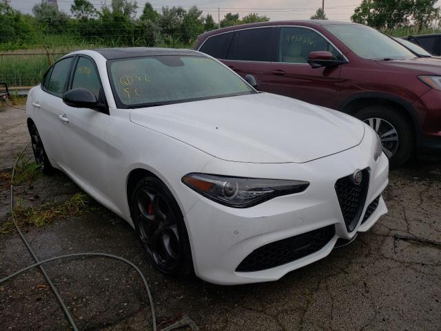Salvage cars for sale at Woodhaven, MI auction: 2019 Alfa Romeo Giulia TI