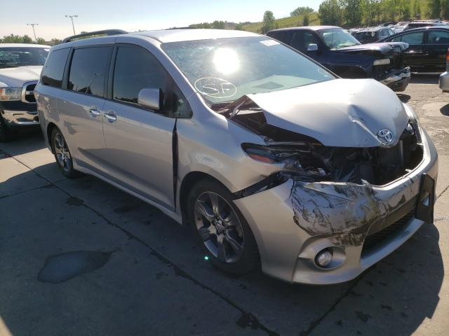 Toyota salvage cars for sale: 2015 Toyota Sienna Sport