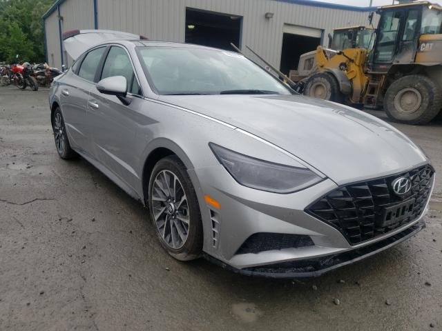Salvage cars for sale from Copart Albany, NY: 2020 Hyundai Sonata LIM