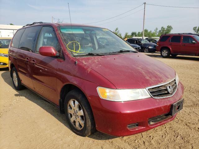 Salvage cars for sale from Copart Pekin, IL: 2002 Honda Odyssey EX
