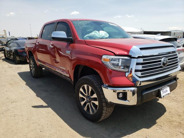 Salvage cars for sale from Copart Brighton, CO: 2021 Toyota Tundra CRE