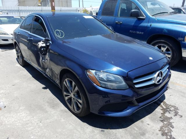 Salvage cars for sale from Copart Wilmington, CA: 2015 Mercedes-Benz C 300 4matic
