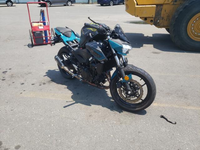 Salvage cars for sale from Copart Brookhaven, NY: 2021 Kawasaki ER400 D
