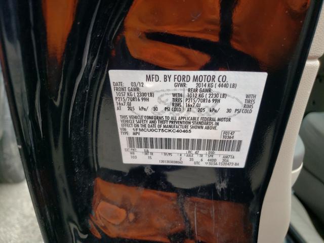 2012 FORD ESCAPE XLS 1FMCU0C75CKC40465