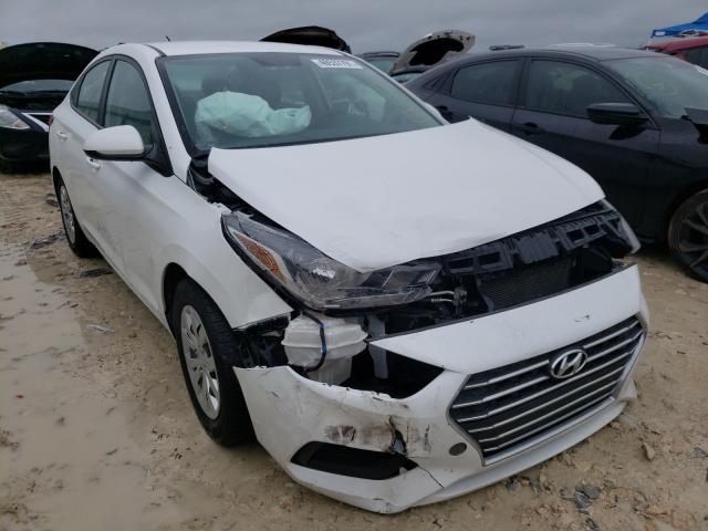 Salvage cars for sale from Copart New Braunfels, TX: 2019 Hyundai Accent SE