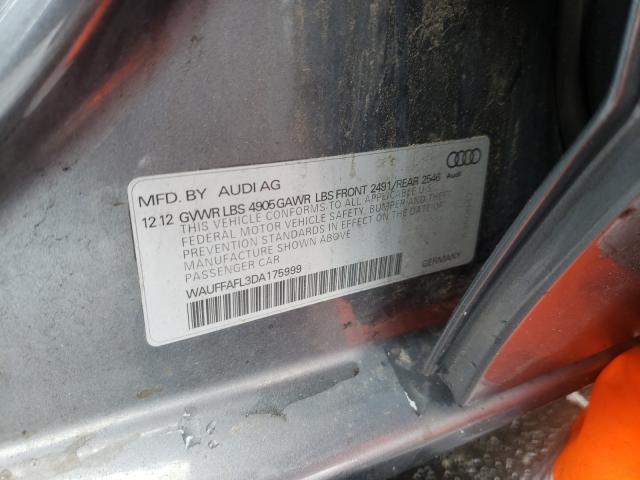 2013 AUDI A4 PREMIUM WAUFFAFL3DA175999