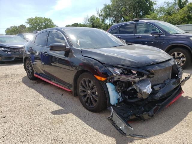 Salvage cars for sale from Copart Milwaukee, WI: 2020 Honda Civic EX