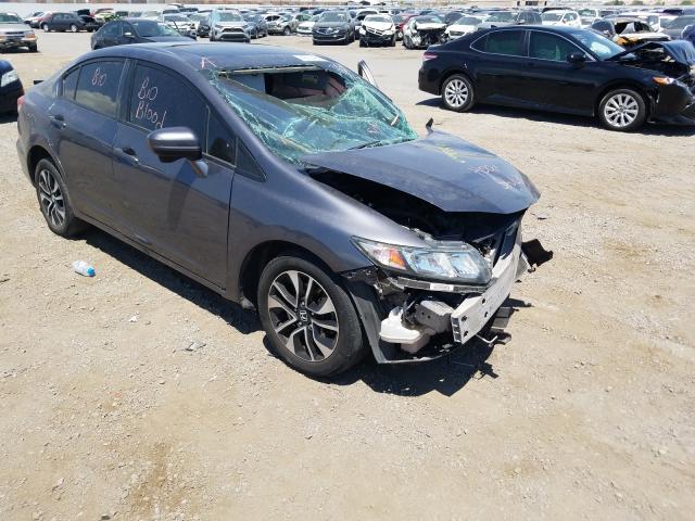 Salvage cars for sale at Las Vegas, NV auction: 2015 Honda Civic EX