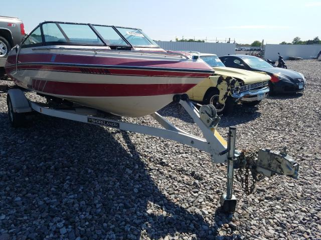 Salvage cars for sale from Copart Avon, MN: 1989 Glastron Boat With Trailer