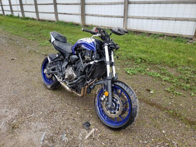 Yamaha MT07 salvage cars for sale: 2020 Yamaha MT07
