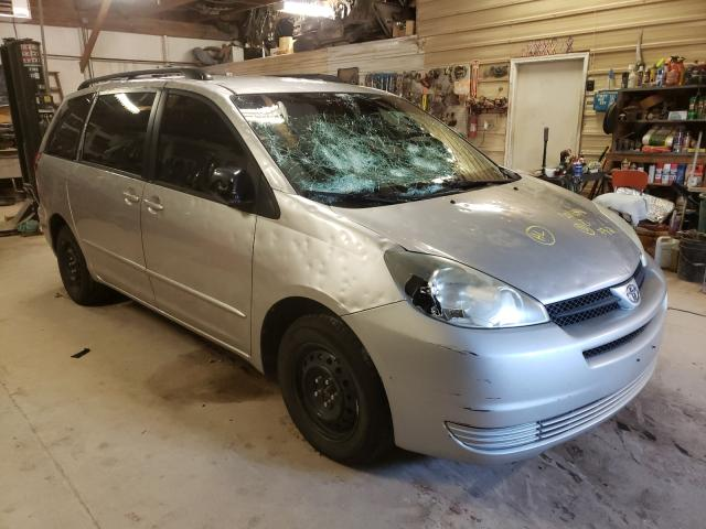 Salvage cars for sale at Billings, MT auction: 2004 Toyota Sienna CE