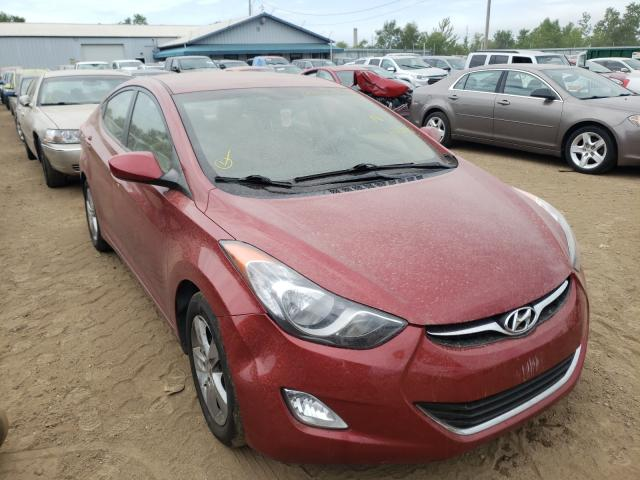Salvage cars for sale from Copart Pekin, IL: 2012 Hyundai Elantra GL