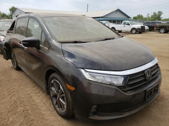 Salvage cars for sale from Copart Pekin, IL: 2021 Honda Odyssey EL