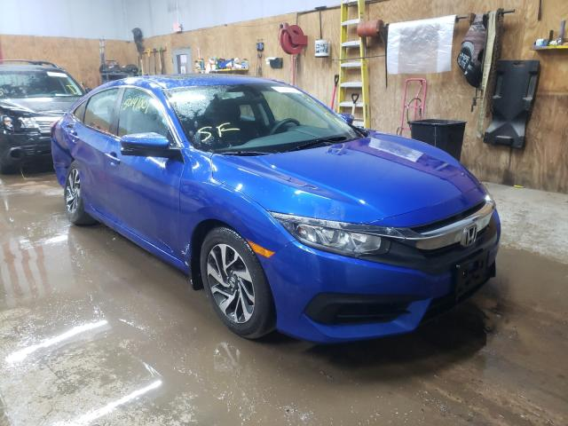 Salvage cars for sale from Copart Kincheloe, MI: 2016 Honda Civic EX
