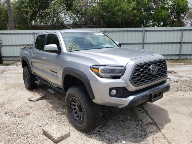 Salvage cars for sale from Copart Corpus Christi, TX: 2021 Toyota Tacoma DOU