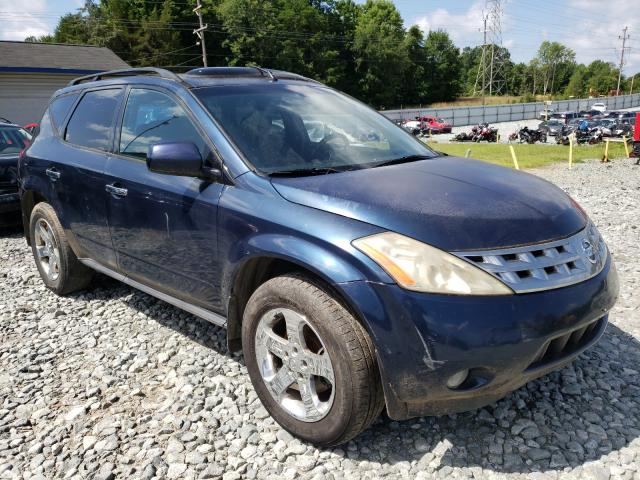 Salvage cars for sale from Copart Mebane, NC: 2004 Nissan Murano SL