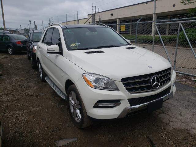 Salvage cars for sale from Copart Wheeling, IL: 2012 Mercedes-Benz ML 350 4matic