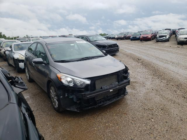 Salvage cars for sale from Copart Pekin, IL: 2016 KIA Forte LX
