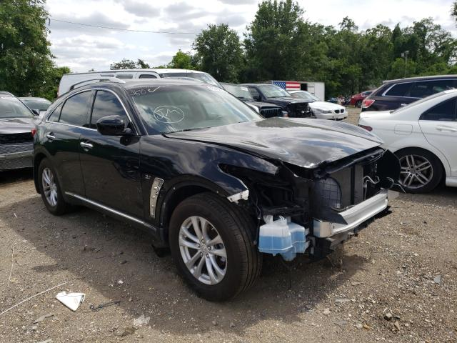 Infiniti QX70 salvage cars for sale: 2017 Infiniti QX70