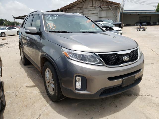 Salvage cars for sale from Copart Corpus Christi, TX: 2015 KIA Sorento LX
