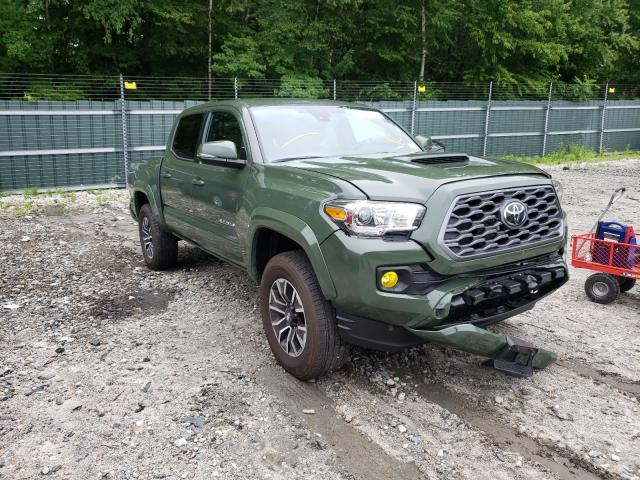 Salvage cars for sale from Copart Candia, NH: 2021 Toyota Tacoma DOU