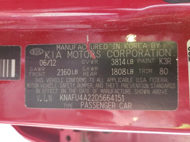 2013 KIA FORTE EX KNAFU4A22D5664151