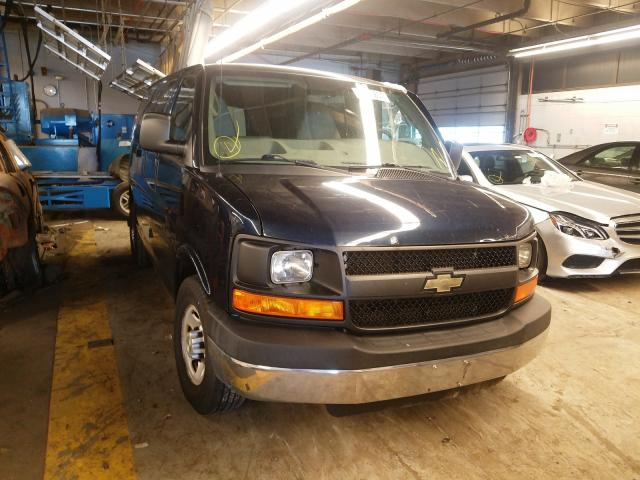 Salvage trucks for sale at Wheeling, IL auction: 2015 Chevrolet Express G2