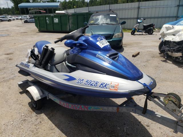Salvage boats for sale at Harleyville, SC auction: 2001 Bombardier Seadod GTX