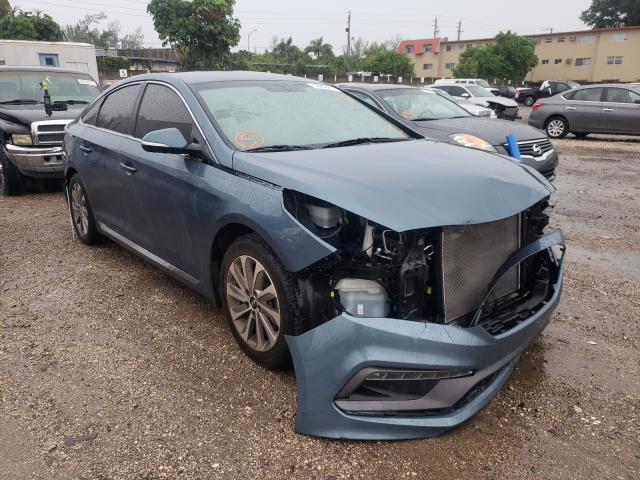 Salvage cars for sale from Copart Opa Locka, FL: 2015 Hyundai Sonata Sport