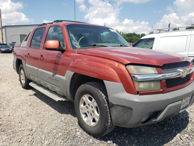 Salvage cars for sale at Memphis, TN auction: 2002 Chevrolet Avalanche
