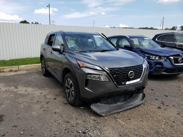Salvage cars for sale from Copart Glassboro, NJ: 2021 Nissan Rogue SV