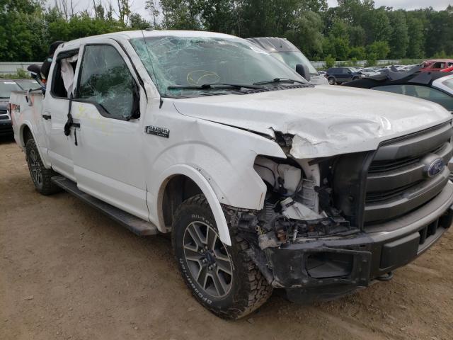 Salvage cars for sale from Copart Davison, MI: 2015 Ford F150 Super