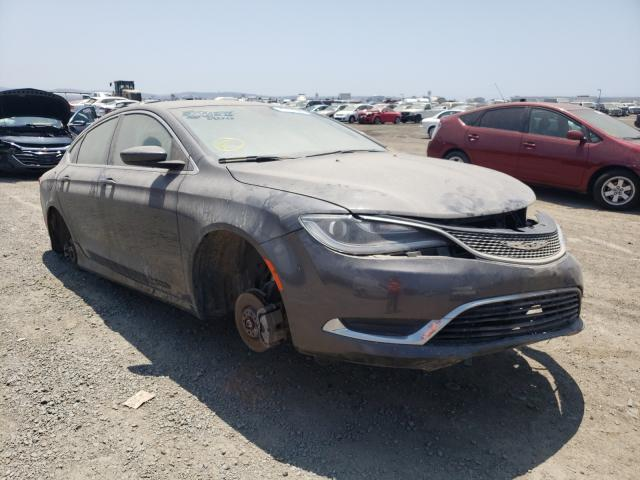 Salvage cars for sale from Copart San Diego, CA: 2015 Chrysler 200 Limited