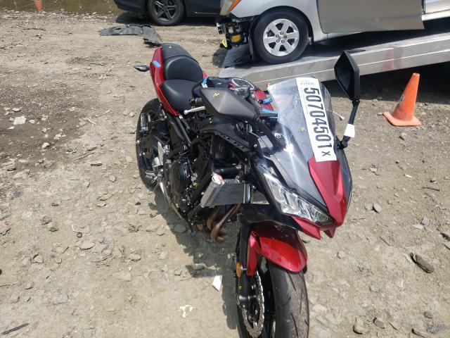 Salvage cars for sale from Copart Waldorf, MD: 2021 Kawasaki EX650 M