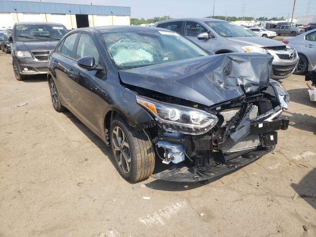 Salvage cars for sale from Copart Woodhaven, MI: 2020 KIA Forte FE